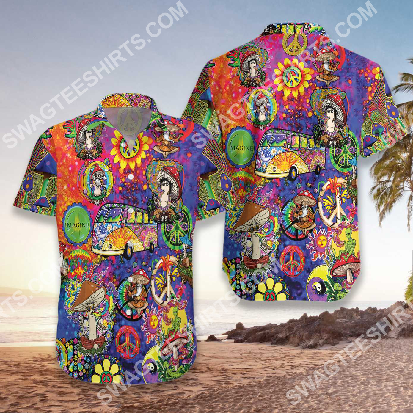 dont worry be hippie all over printed hawaiian shirt 3(1)