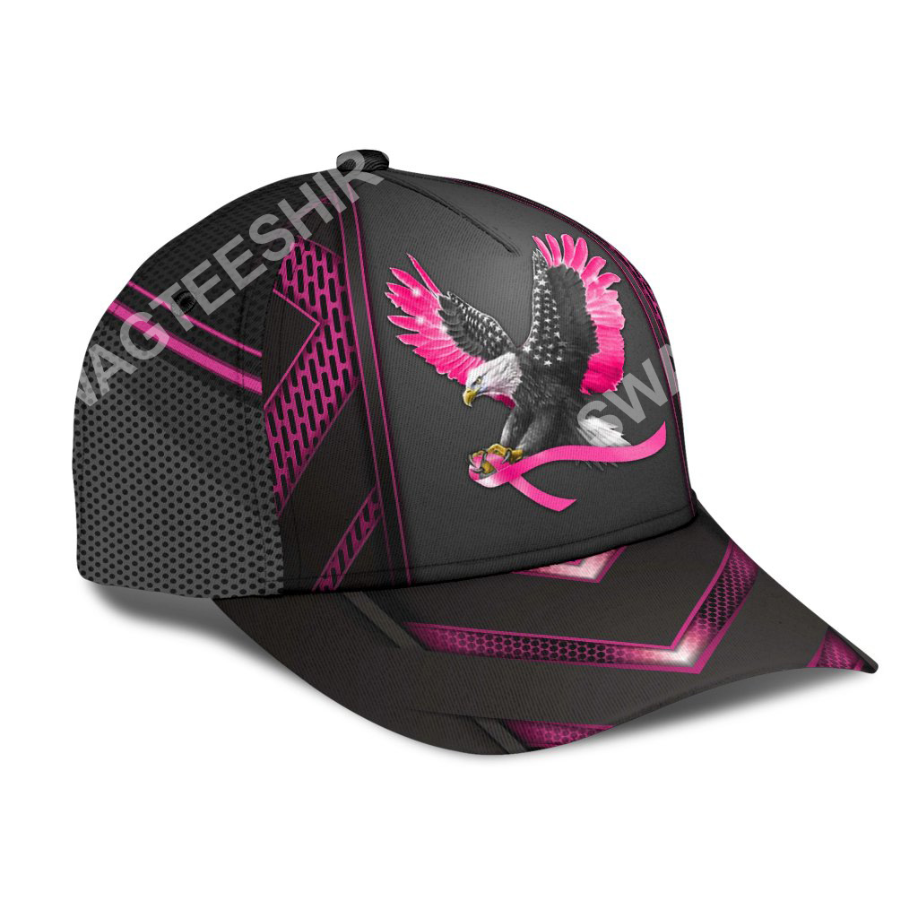eagle american with breast cancer all over printed classic cap 2(1)