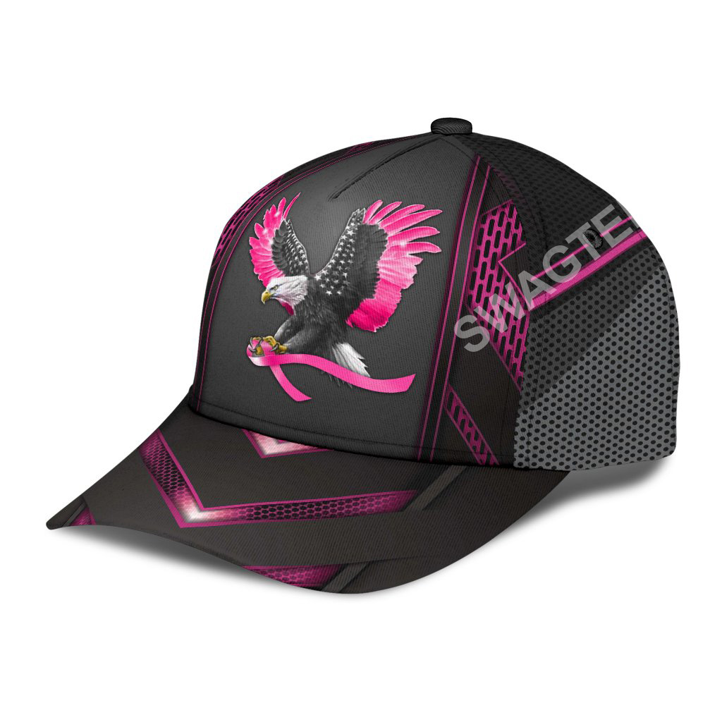 eagle american with breast cancer all over printed classic cap 3(1)