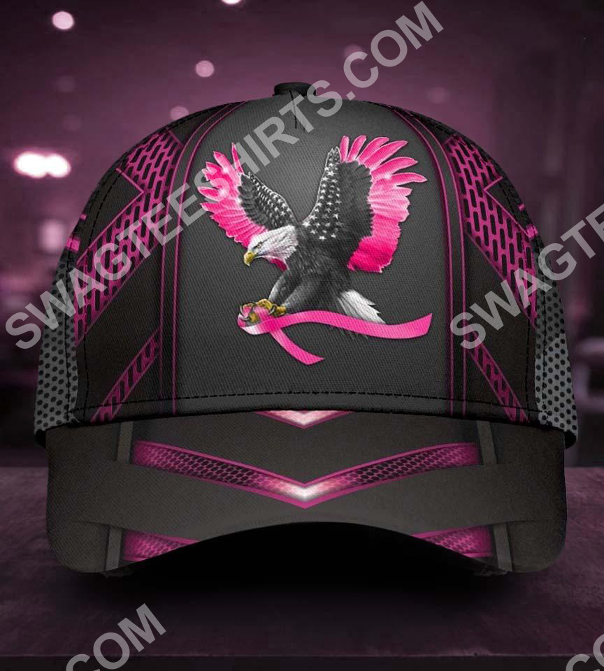eagle american with breast cancer all over printed classic cap 5(1)