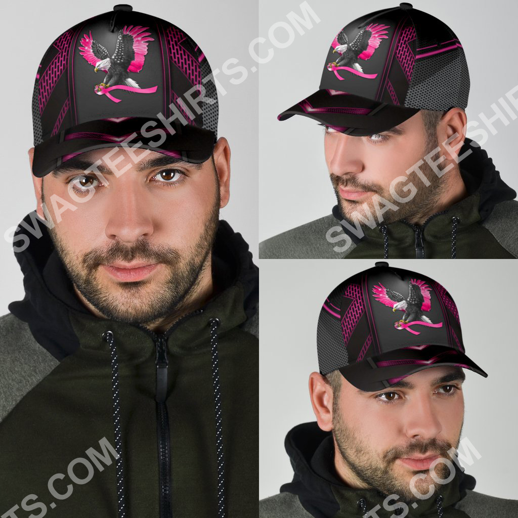 eagle american with breast cancer all over printed classic cap 6(1)