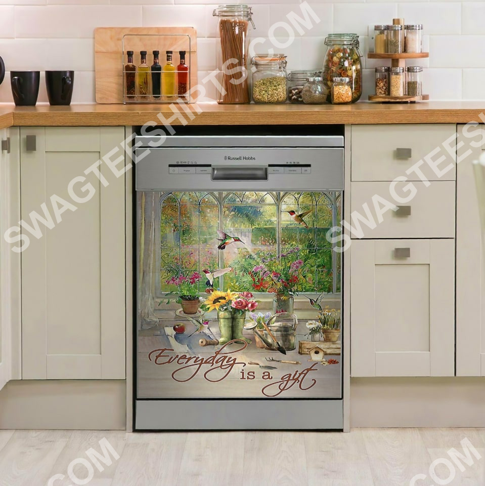 everyday is a gift vintage kitchen decorative dishwasher magnet cover 2