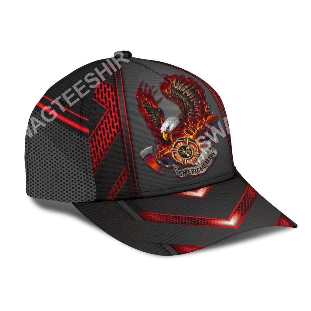 firefighter eagle american flag all over printed classic cap 2(1)