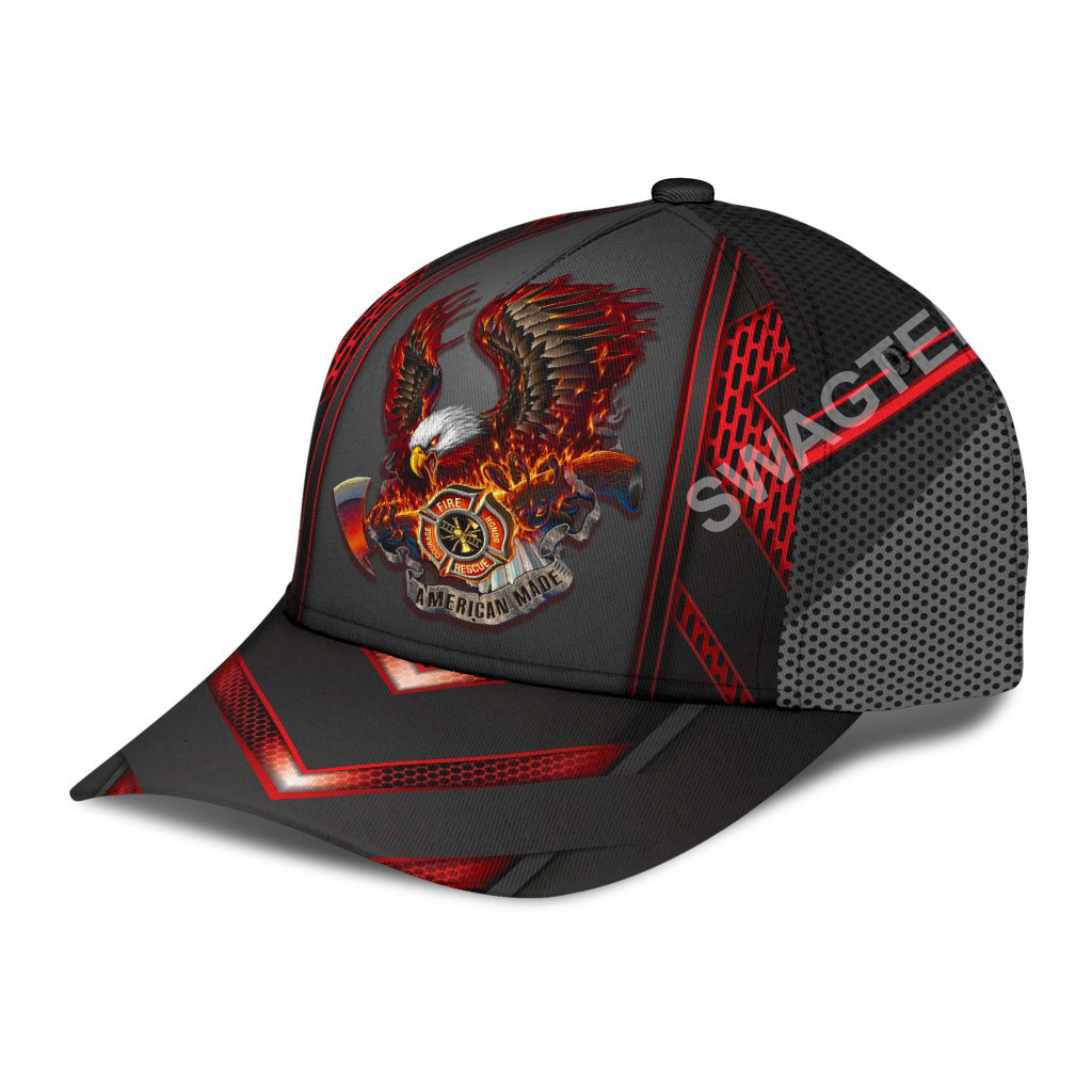 firefighter eagle american flag all over printed classic cap 3(1)