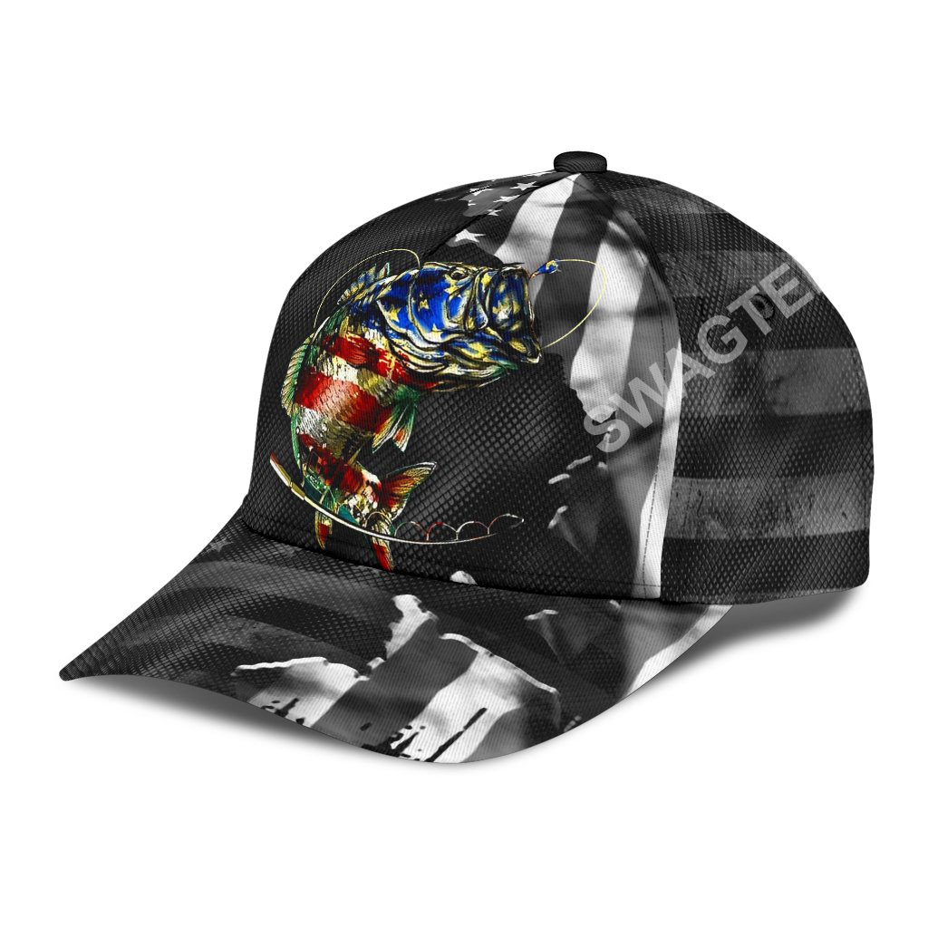 fishing american flag all over printed classic cap 3(1)
