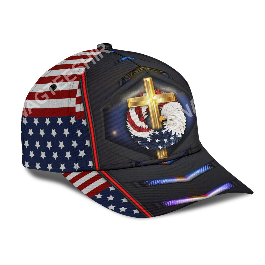 fourth of july God bless american all over printed classic cap 2(1)