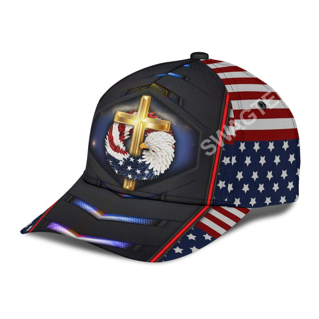 fourth of july God bless american all over printed classic cap 3(1)