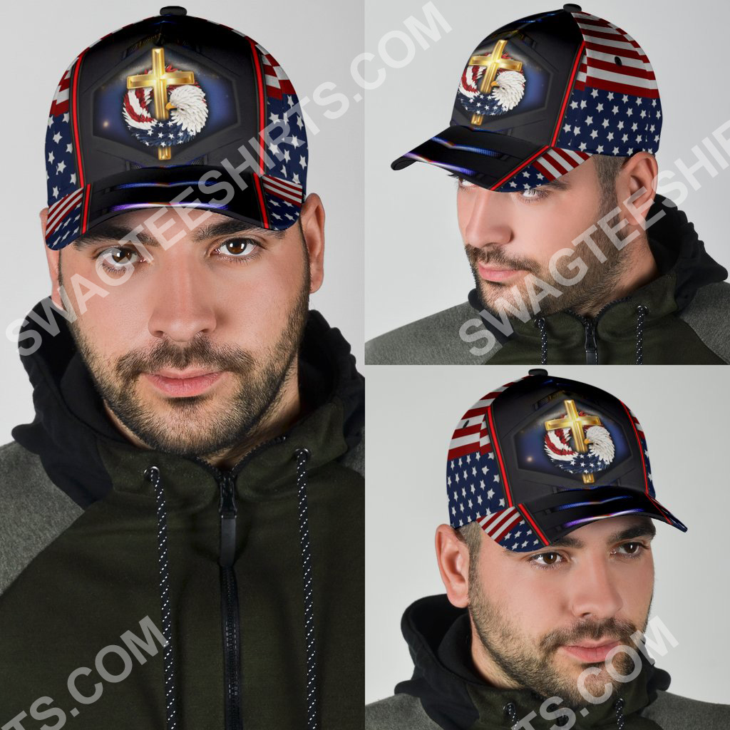 fourth of july God bless american all over printed classic cap 4(1)