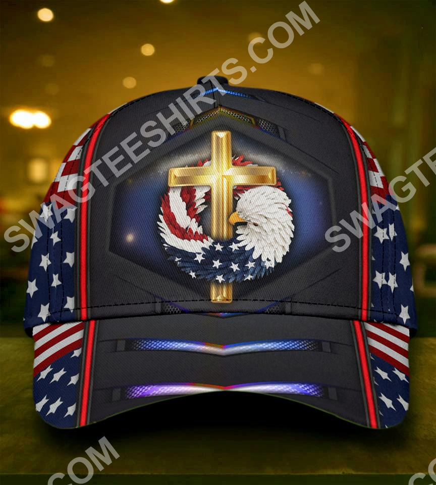 fourth of july God bless american all over printed classic cap 5(1)