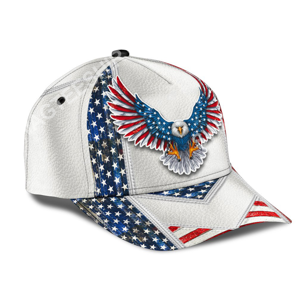 fourth of july american eagle all over printed classic cap 2(1)