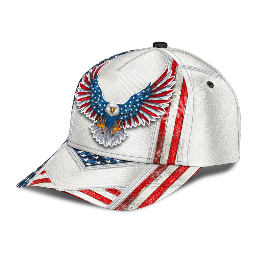 fourth of july american eagle all over printed classic cap 3(1)