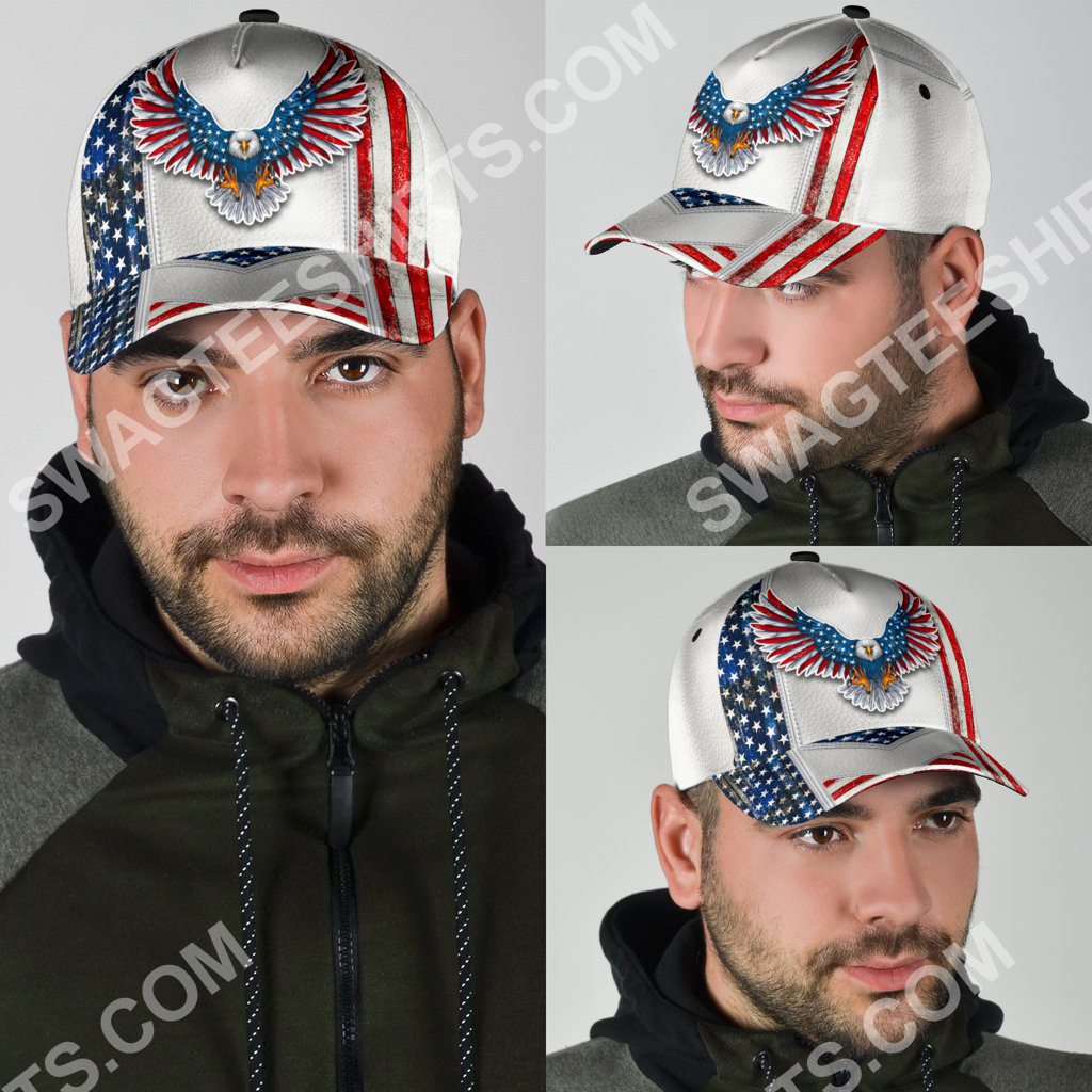 fourth of july american eagle all over printed classic cap 4(1)