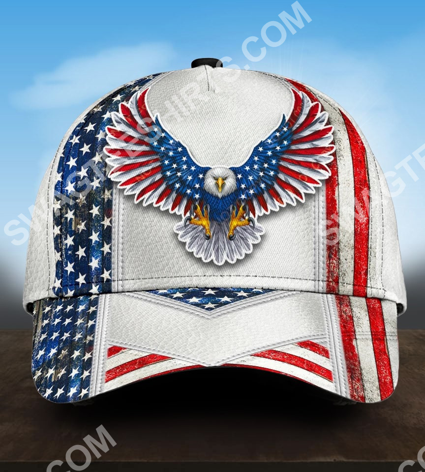 fourth of july american eagle all over printed classic cap 5(1)