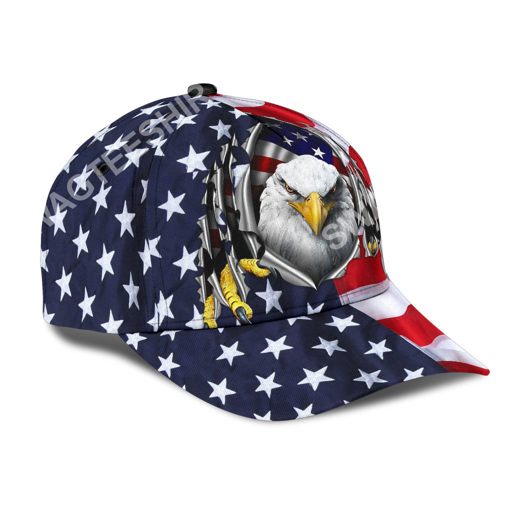 fourth of july american flag eagle all over printed classic cap 2(1)