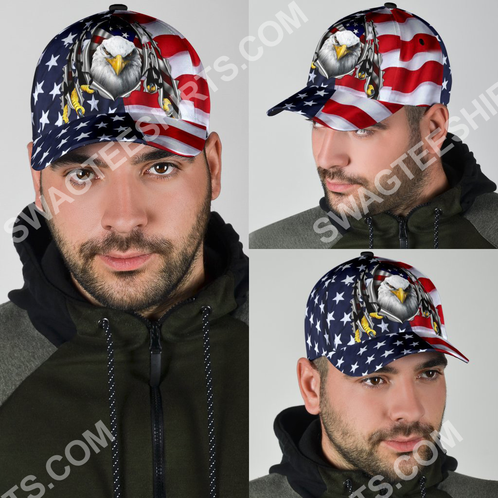 fourth of july american flag eagle all over printed classic cap 4(1)