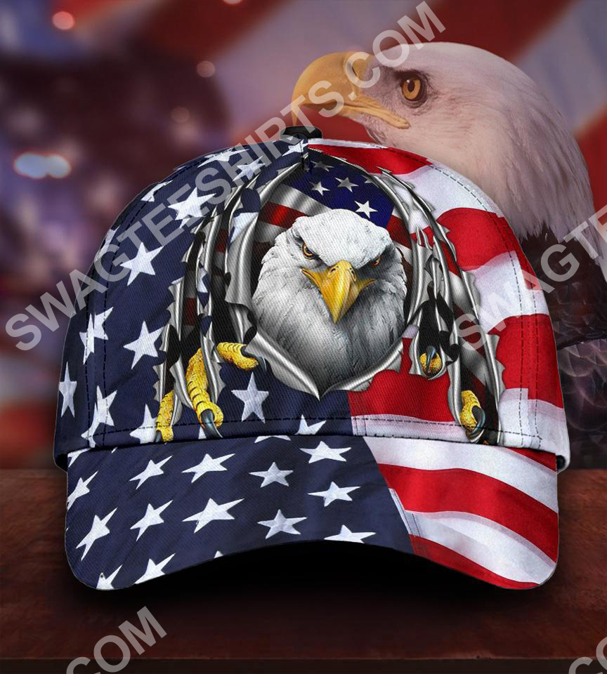 fourth of july american flag eagle all over printed classic cap 5(1)