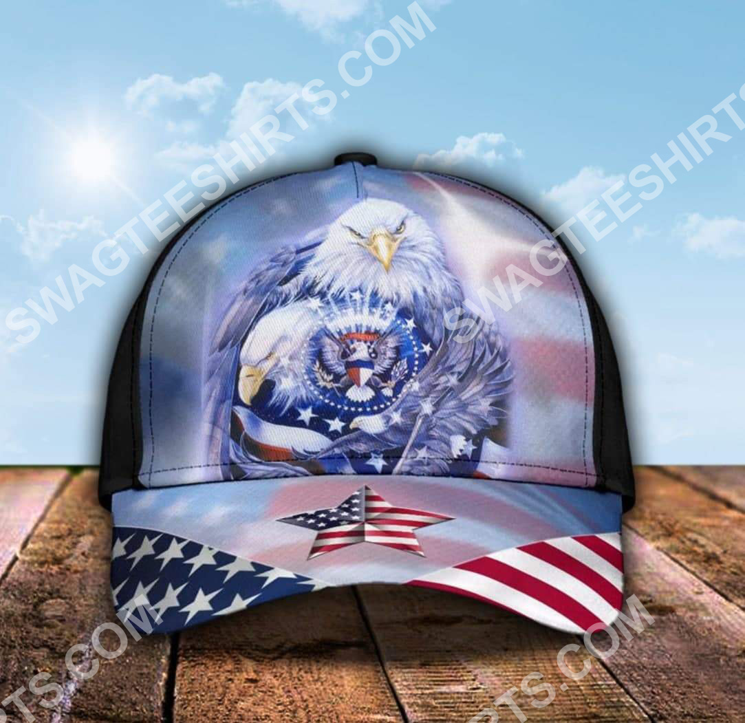 fourth of july american flag independence day all over printed classic cap 5(1)