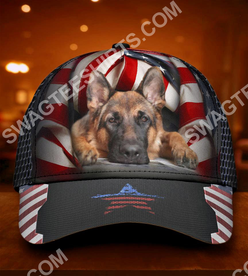 fourth of july american german shepherd all over printed classic cap 5(1)