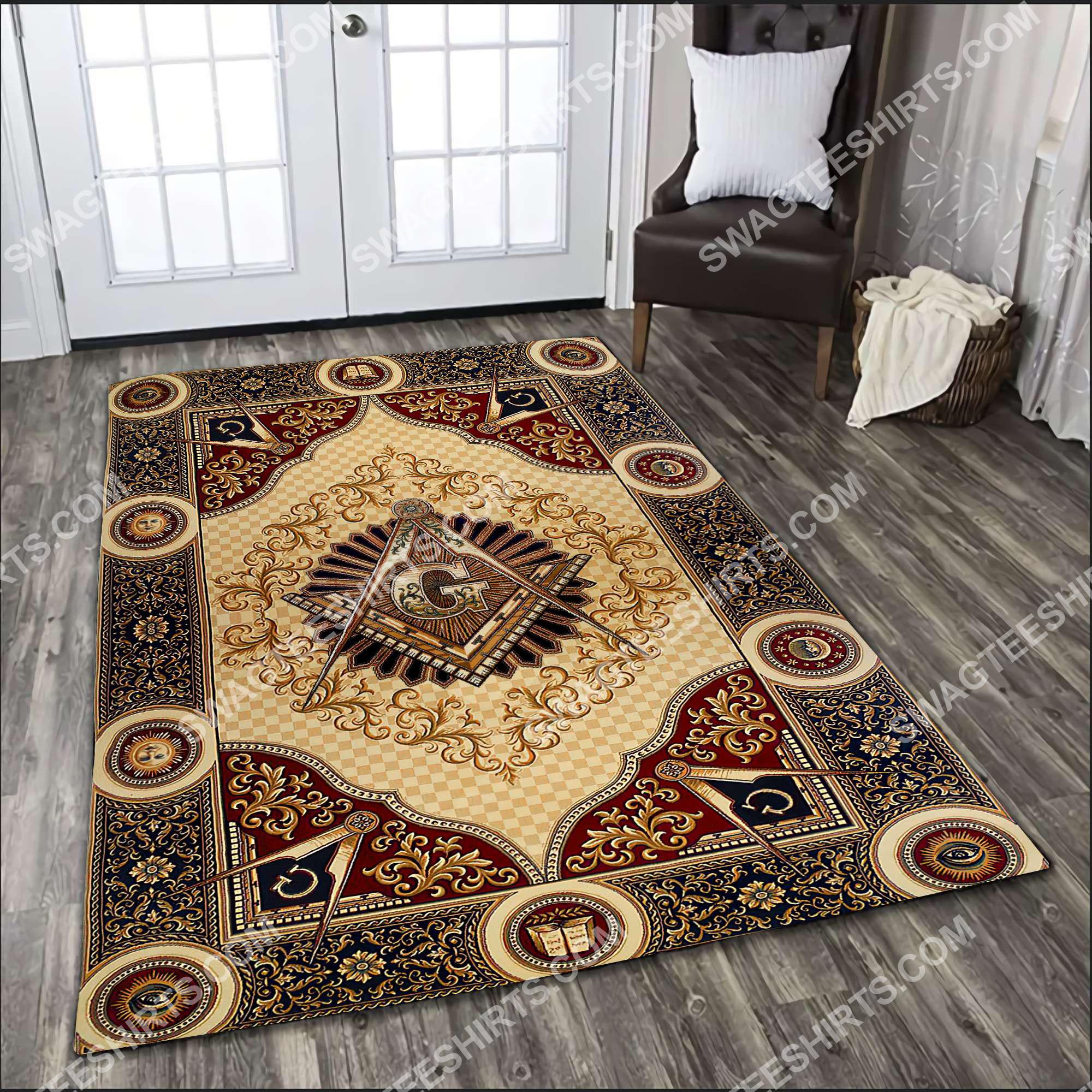 freemasonry masonic lodges all over printed rug 3(1)