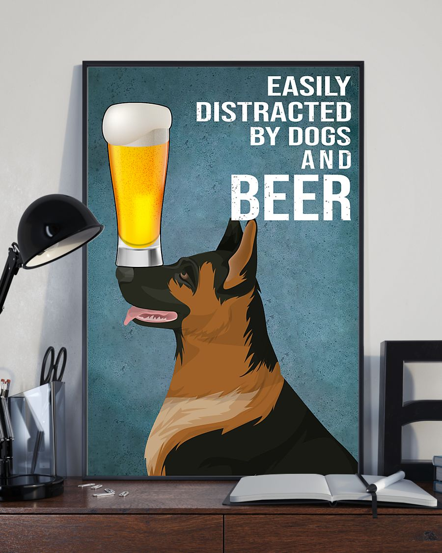 german shepherd easily distracted by dogs and beer poster 4