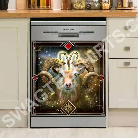 goat galaxy kitchen decorative dishwasher magnet cover 2
