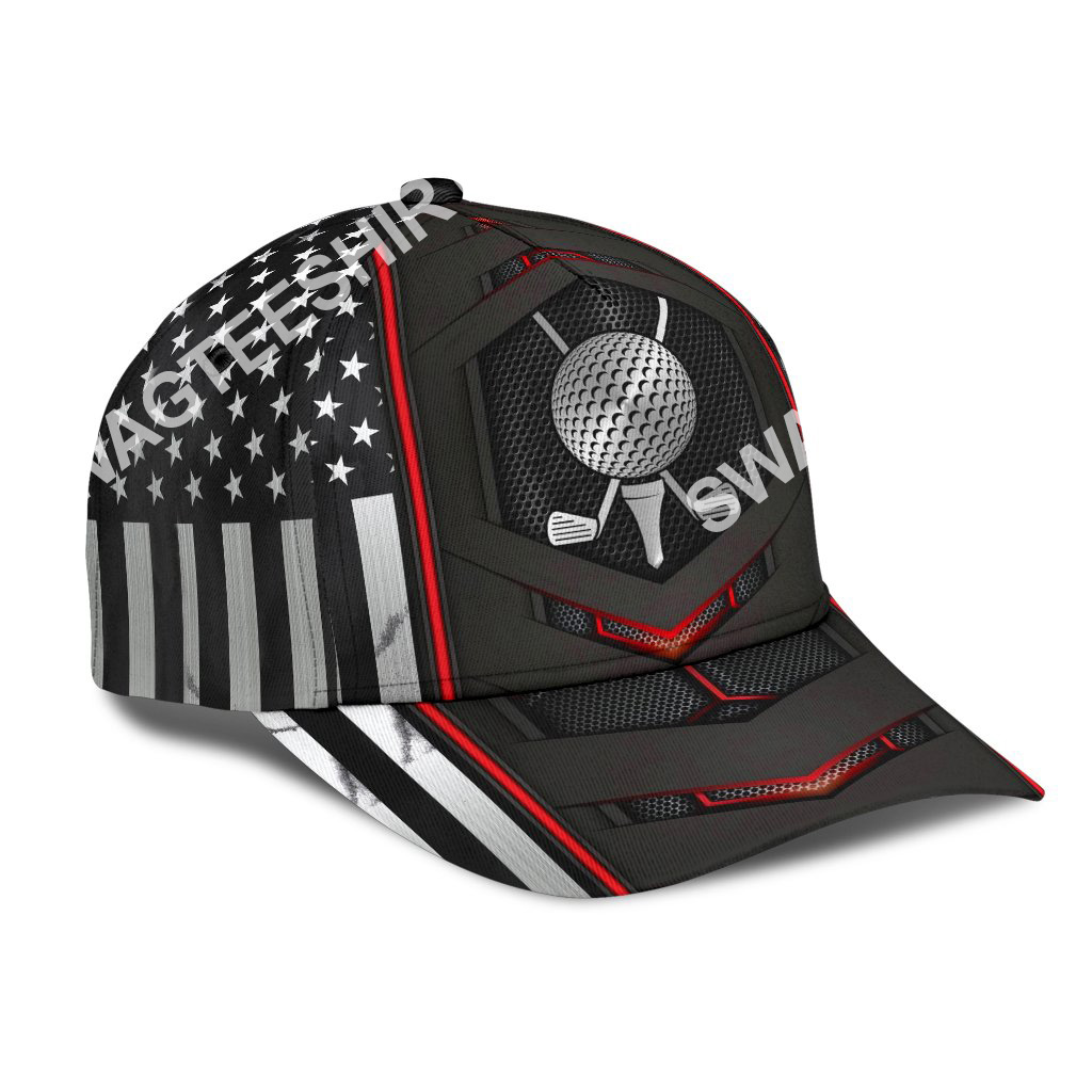 golf american flag all over printed classic cap 2(1)