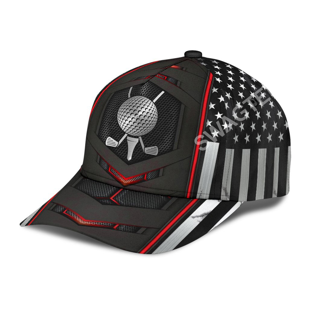 golf american flag all over printed classic cap 3(1)