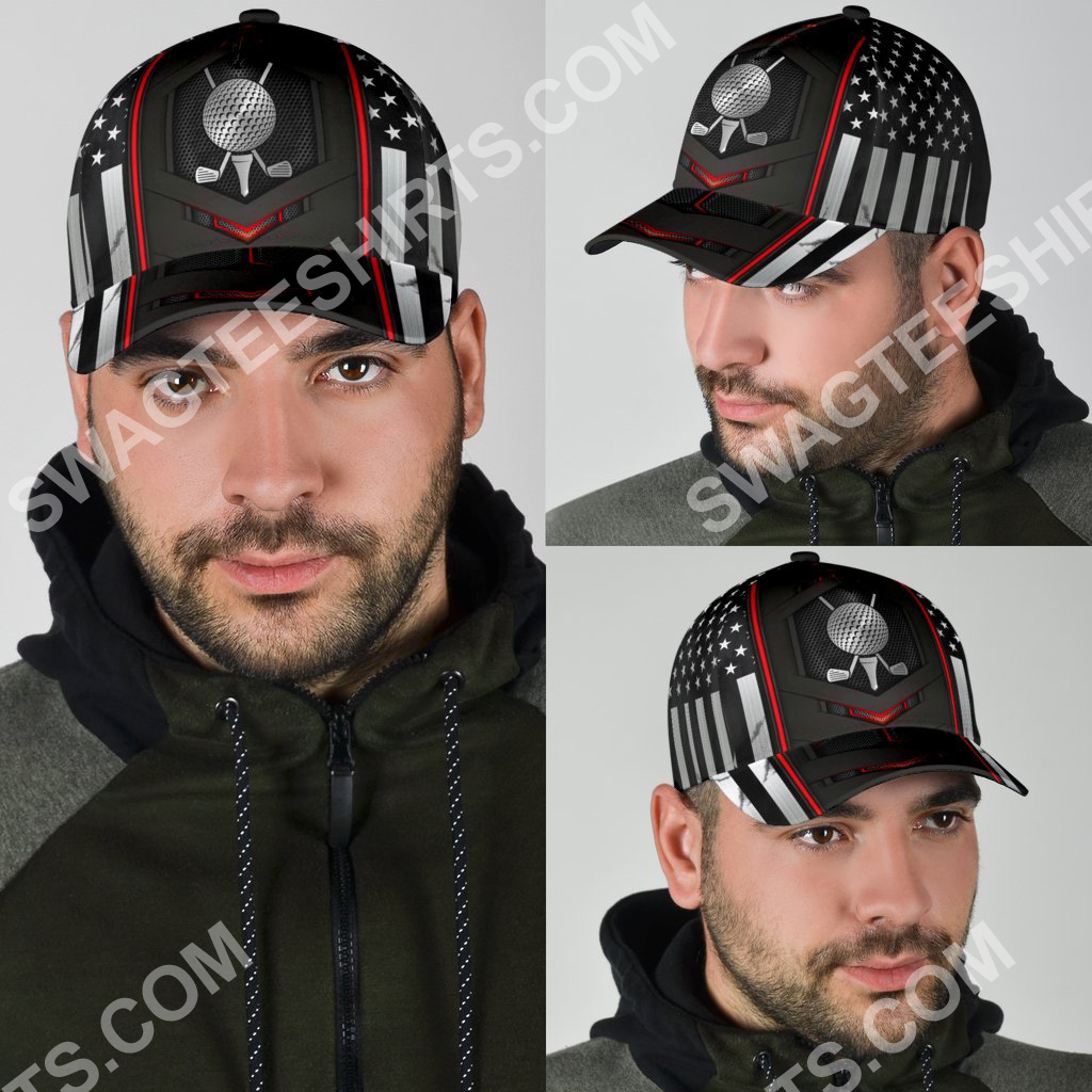 golf american flag all over printed classic cap 4(1)