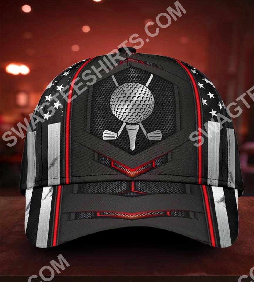 golf american flag all over printed classic cap 5(1)