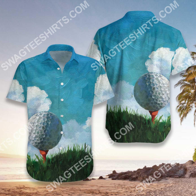 golf ball canvas all over printed hawaiian shirt 2(1)