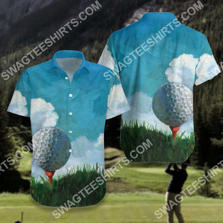 golf ball canvas all over printed hawaiian shirt 3(1)