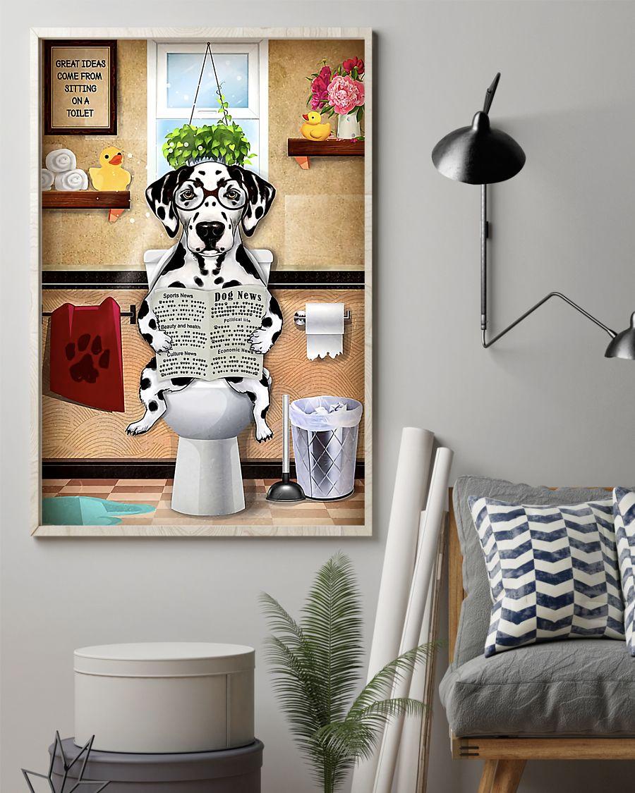 great ideas dalmatian sitting on toilet poster 2