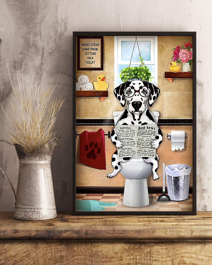 great ideas dalmatian sitting on toilet poster 5