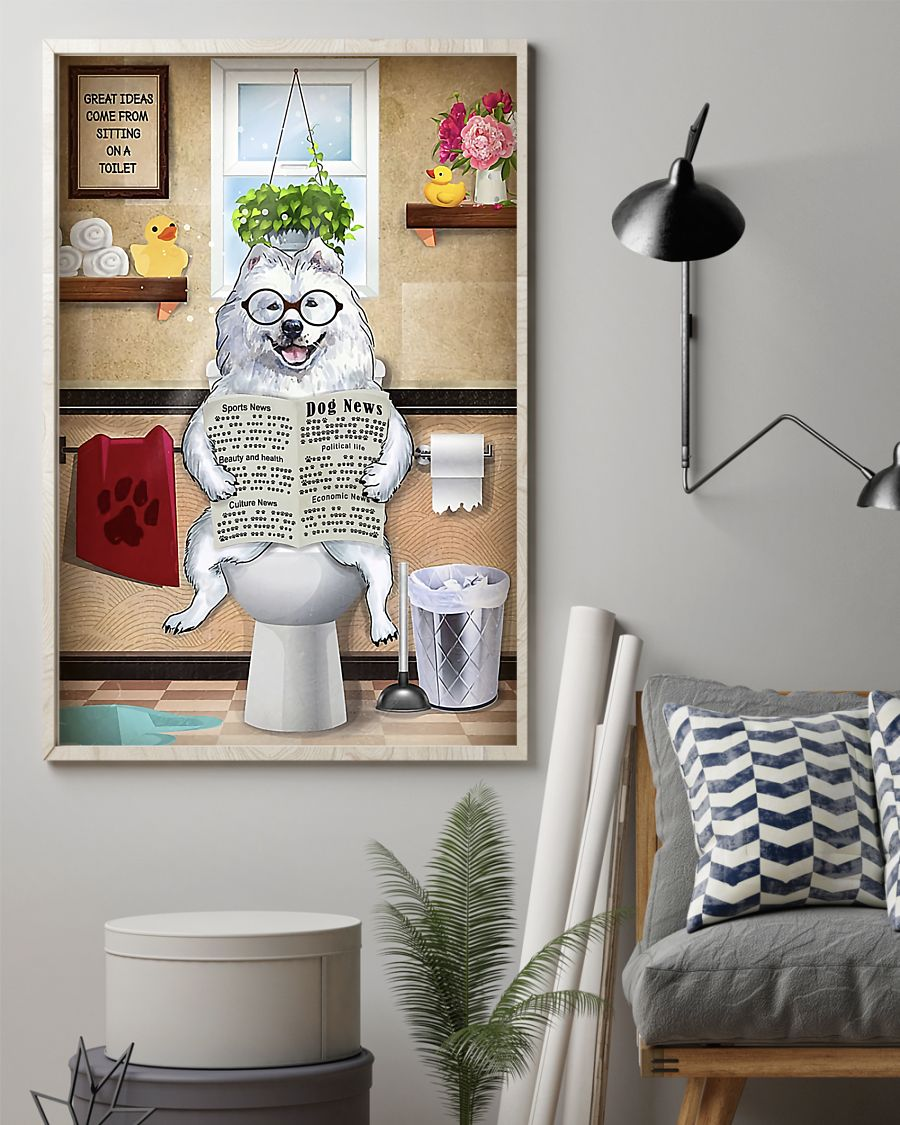 great pyrenees great ideas sitting on toilet poster 2