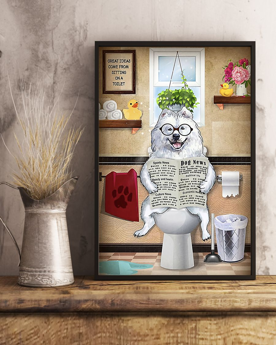 great pyrenees great ideas sitting on toilet poster 5
