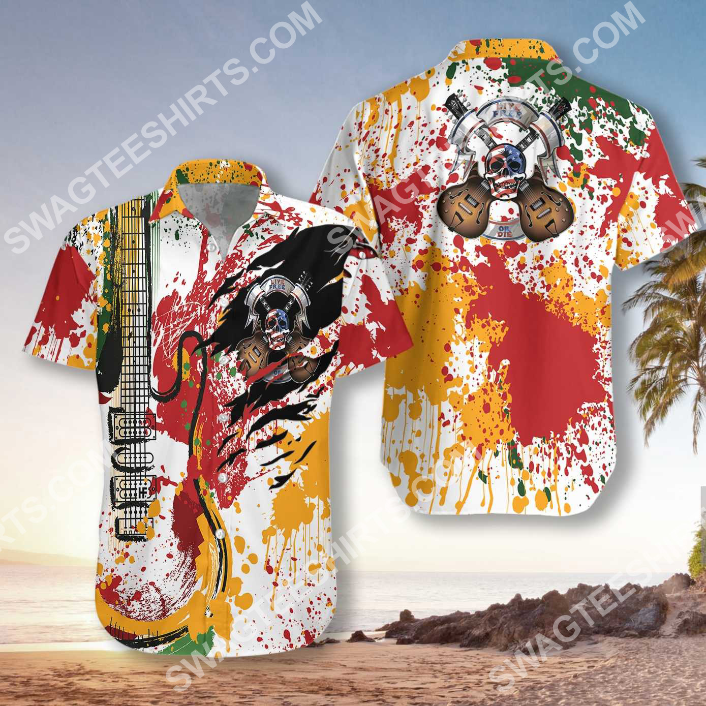 guitar live free or die all over printed hawaiian shirt 2(1)
