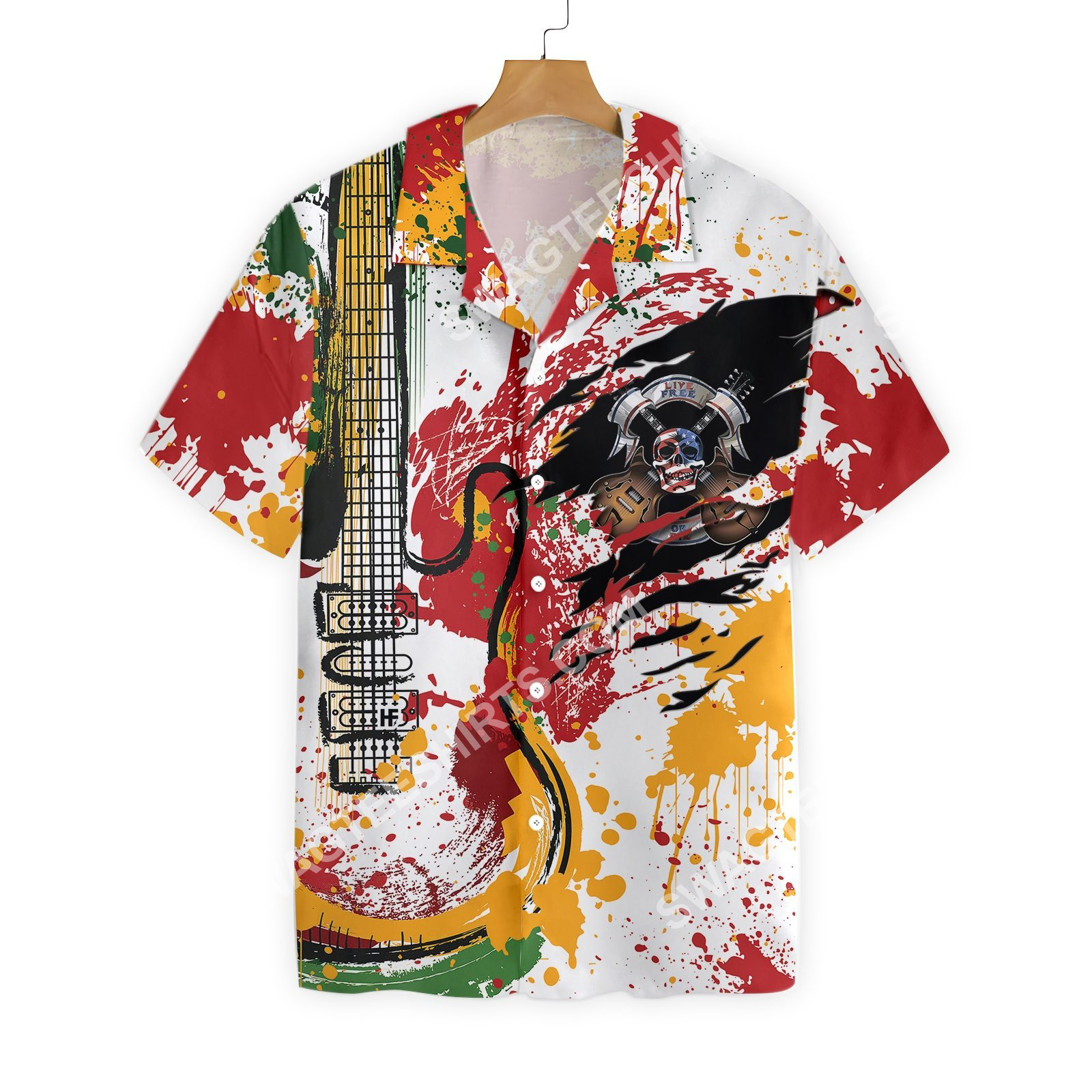guitar live free or die all over printed hawaiian shirt 3(1)