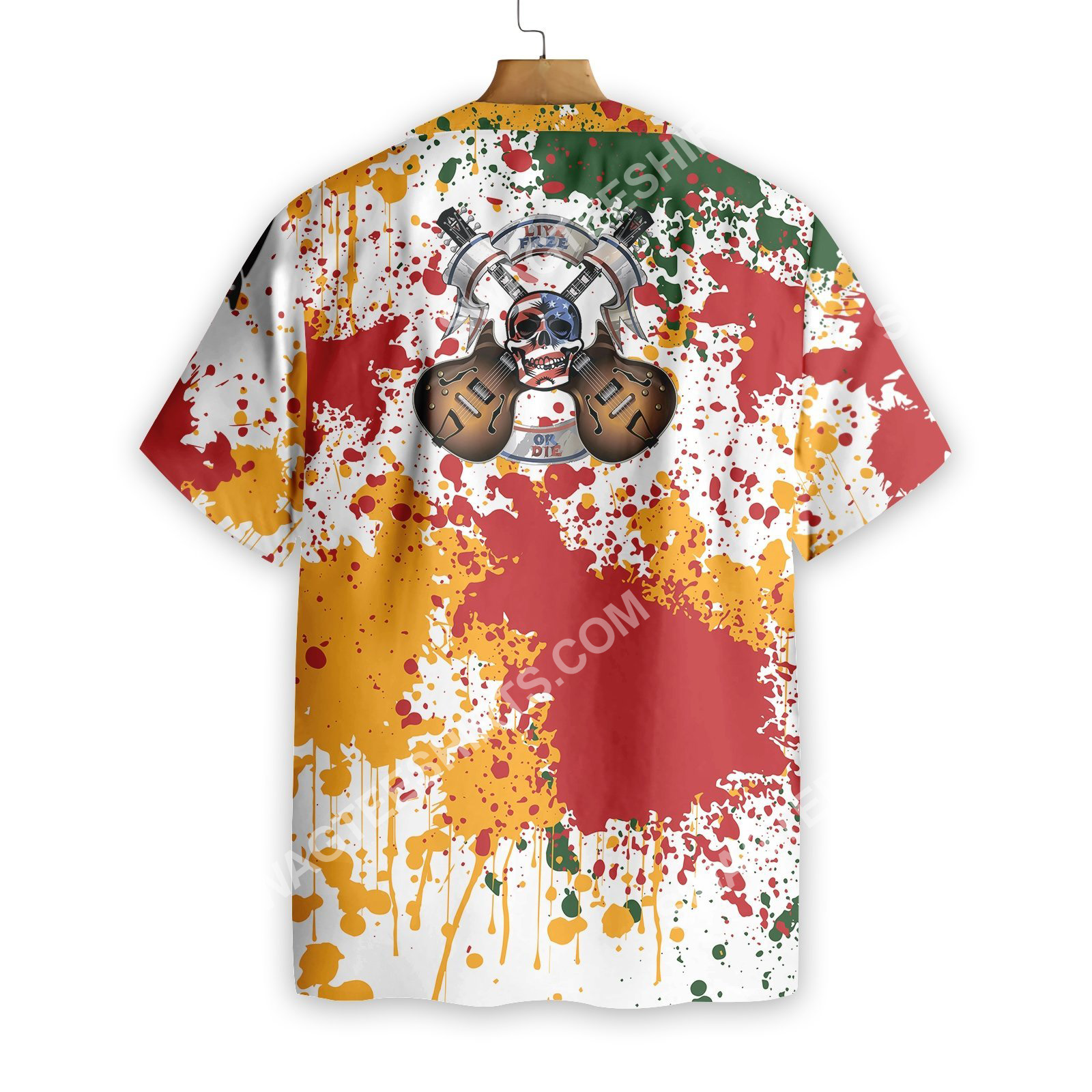 guitar live free or die all over printed hawaiian shirt 4(1)