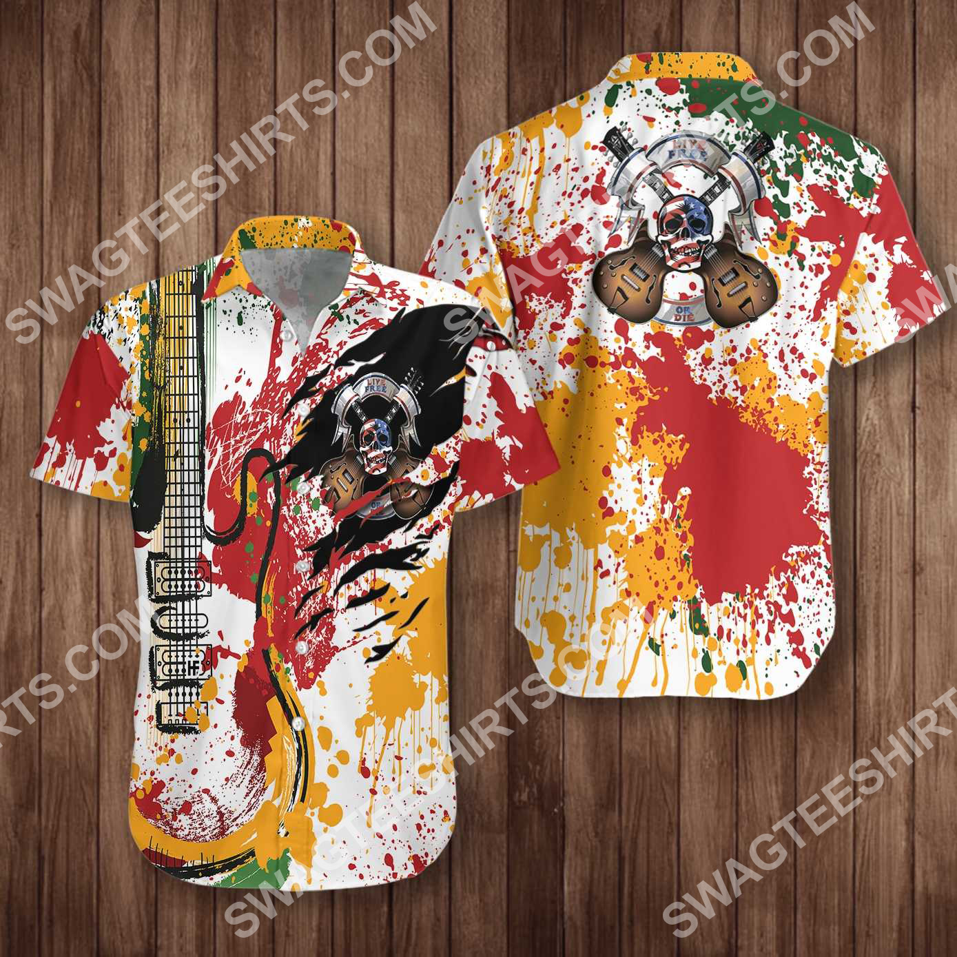 guitar live free or die all over printed hawaiian shirt 5(1)