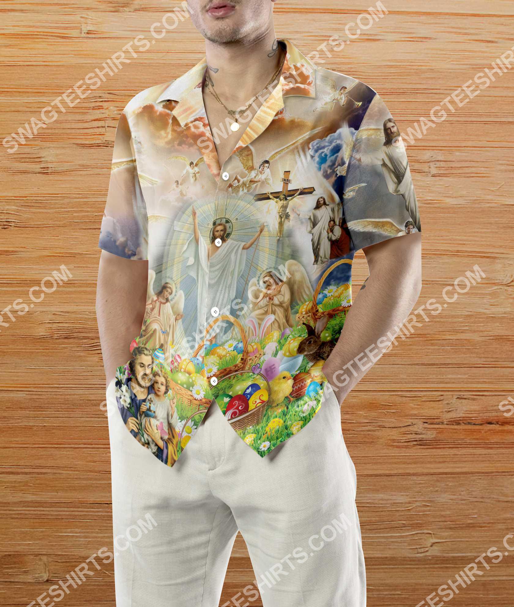 happy easter day God all over printed hawaiian shirt 4(1)