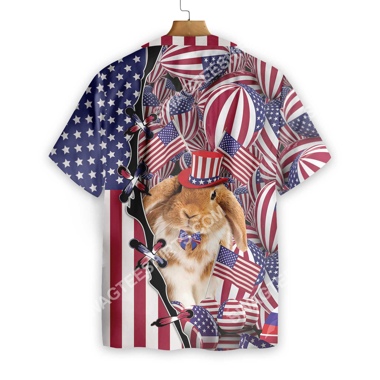 happy easter day america flag all over printed hawaiian shirt 2(1)