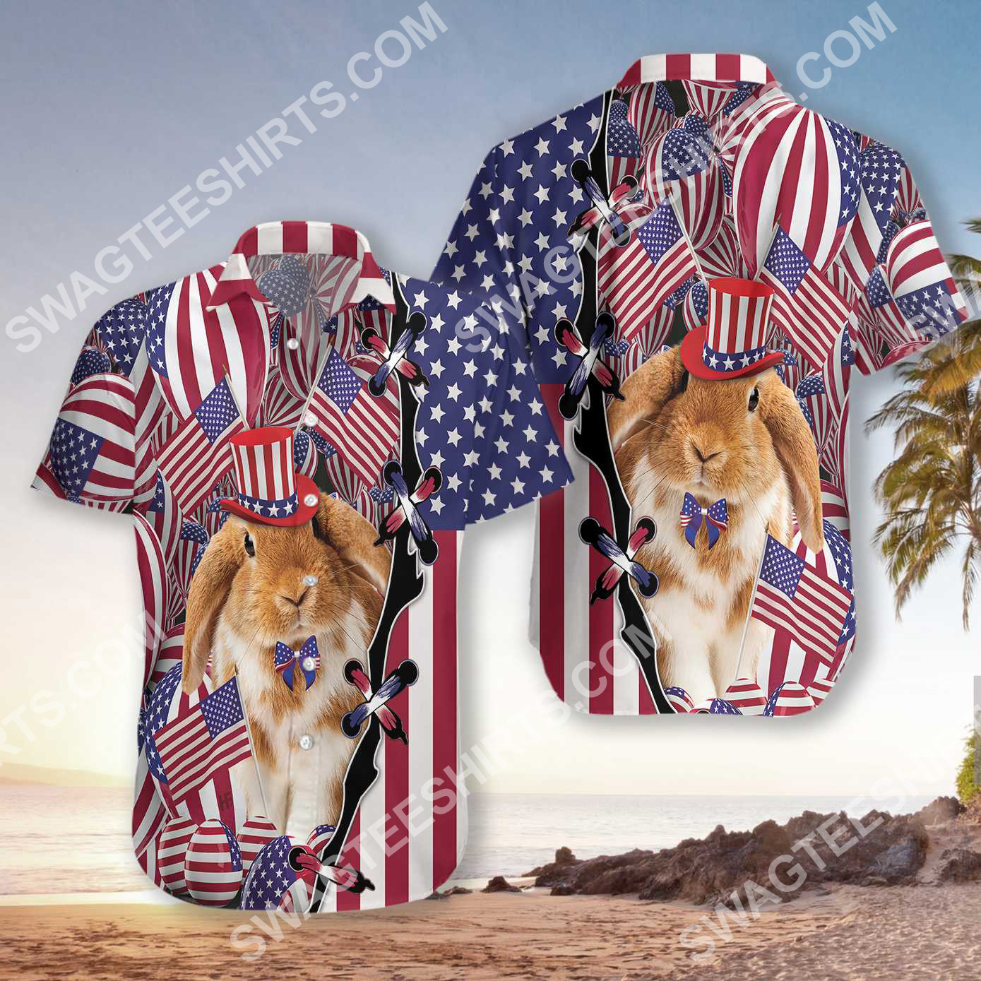 happy easter day america flag all over printed hawaiian shirt 3(1)