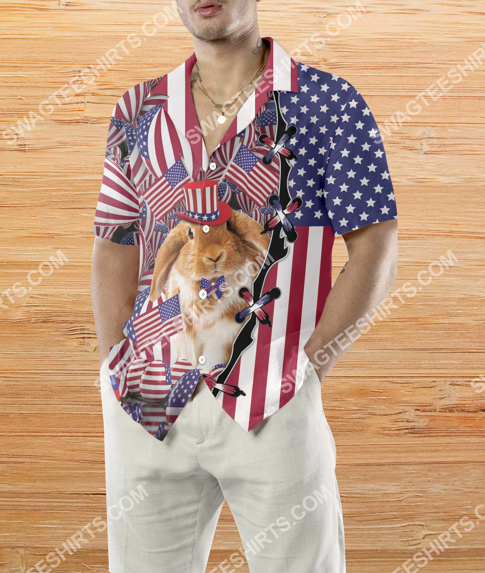 happy easter day america flag all over printed hawaiian shirt 4(1)