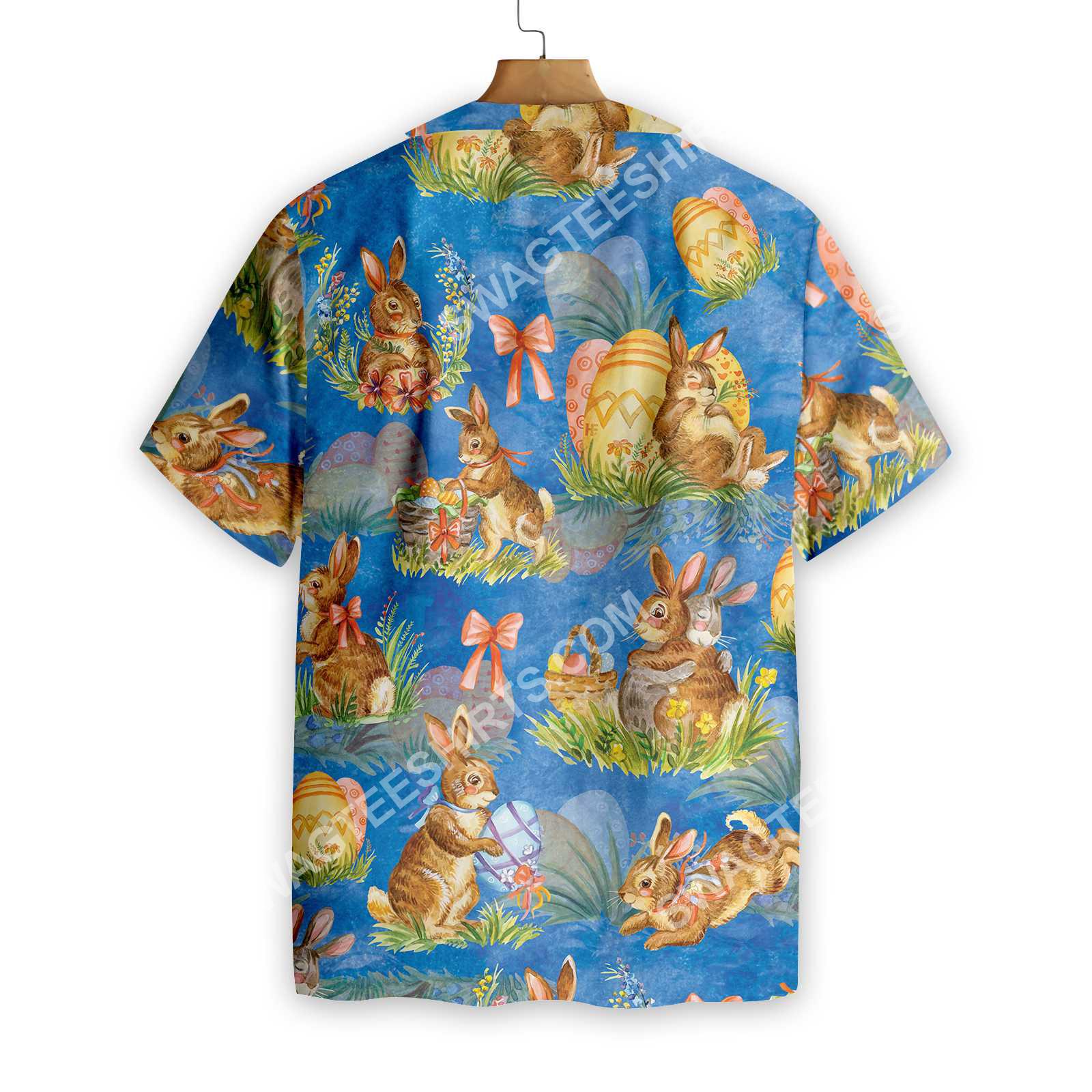 happy easter day bunny all over printed hawaiian shirt 2(1)