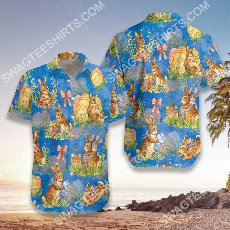 happy easter day bunny all over printed hawaiian shirt 3(1)