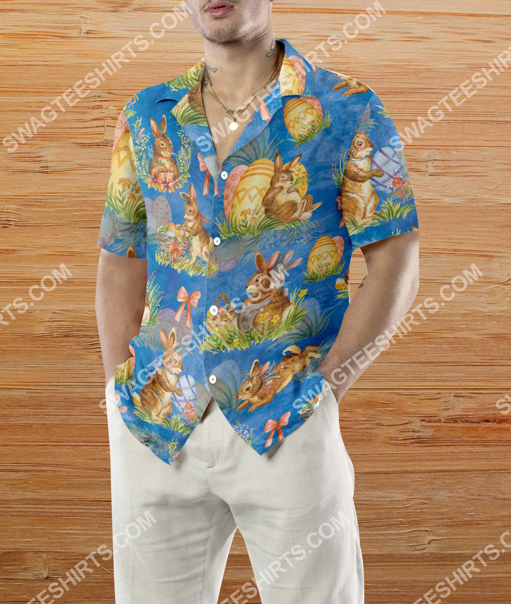 happy easter day bunny all over printed hawaiian shirt 4(1)