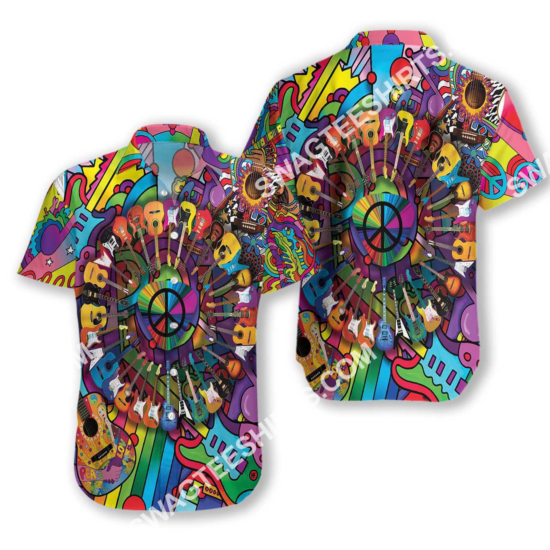 hippie peace love music all over printed hawaiian shirt 2(1)