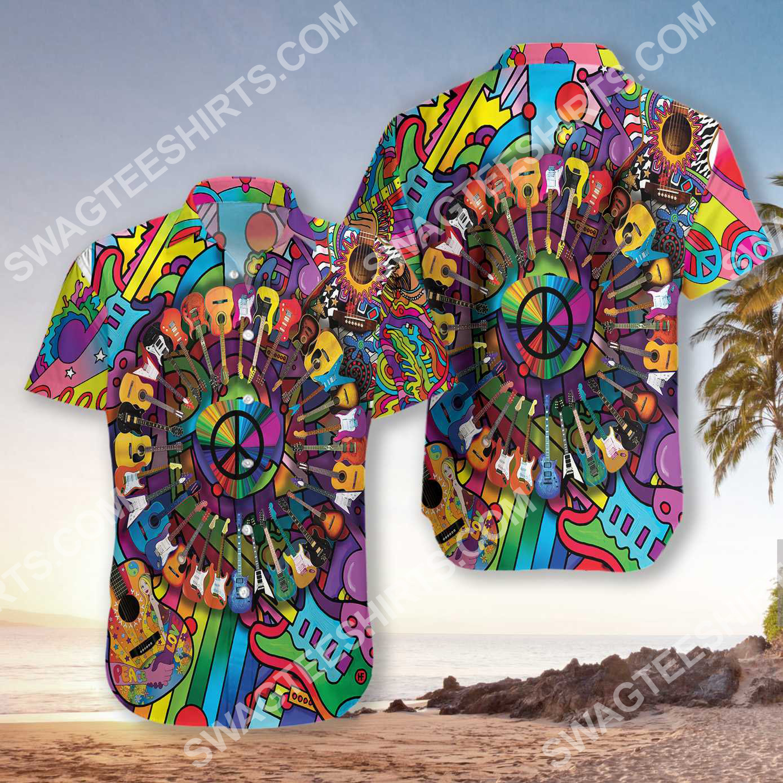 hippie peace love music all over printed hawaiian shirt 3(1) - Copy