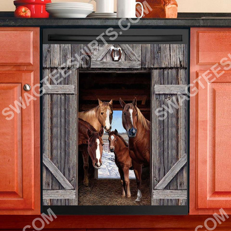 horse lover kitchen decorative dishwasher magnet cover 2