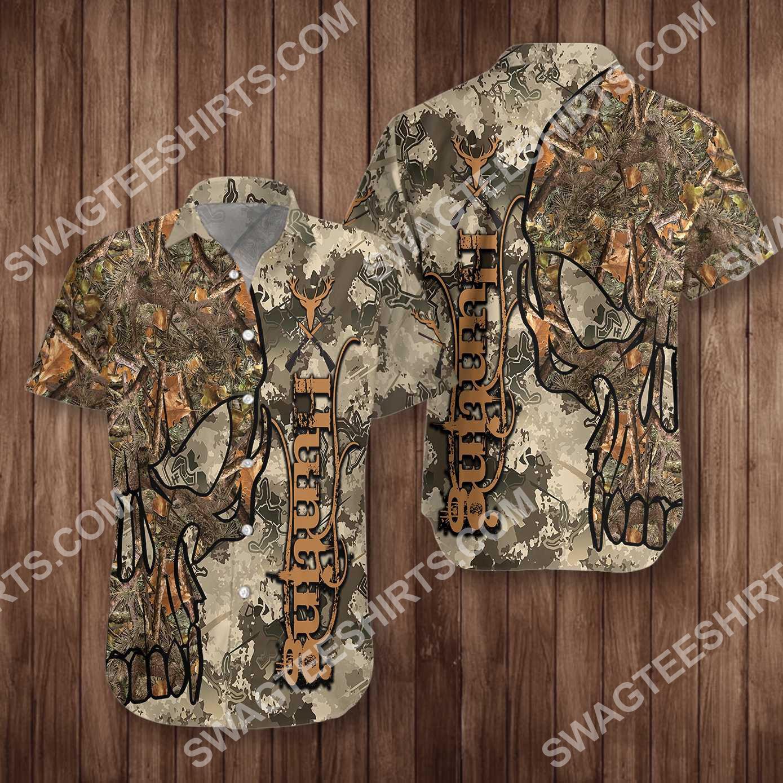 hunting skull camo pattern all over printed hawaiian shirt 5(1)